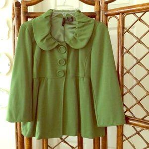 Vintage Green Snap Front Jacket